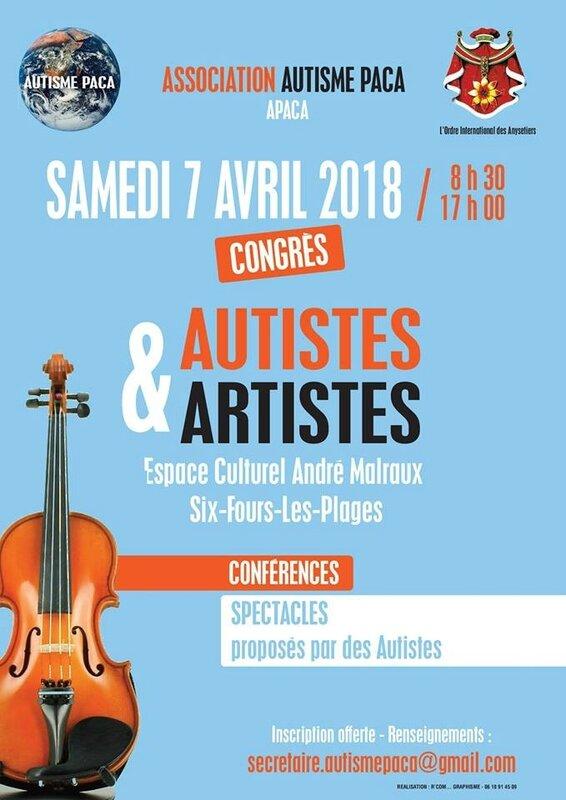 affiche autisme et artistes