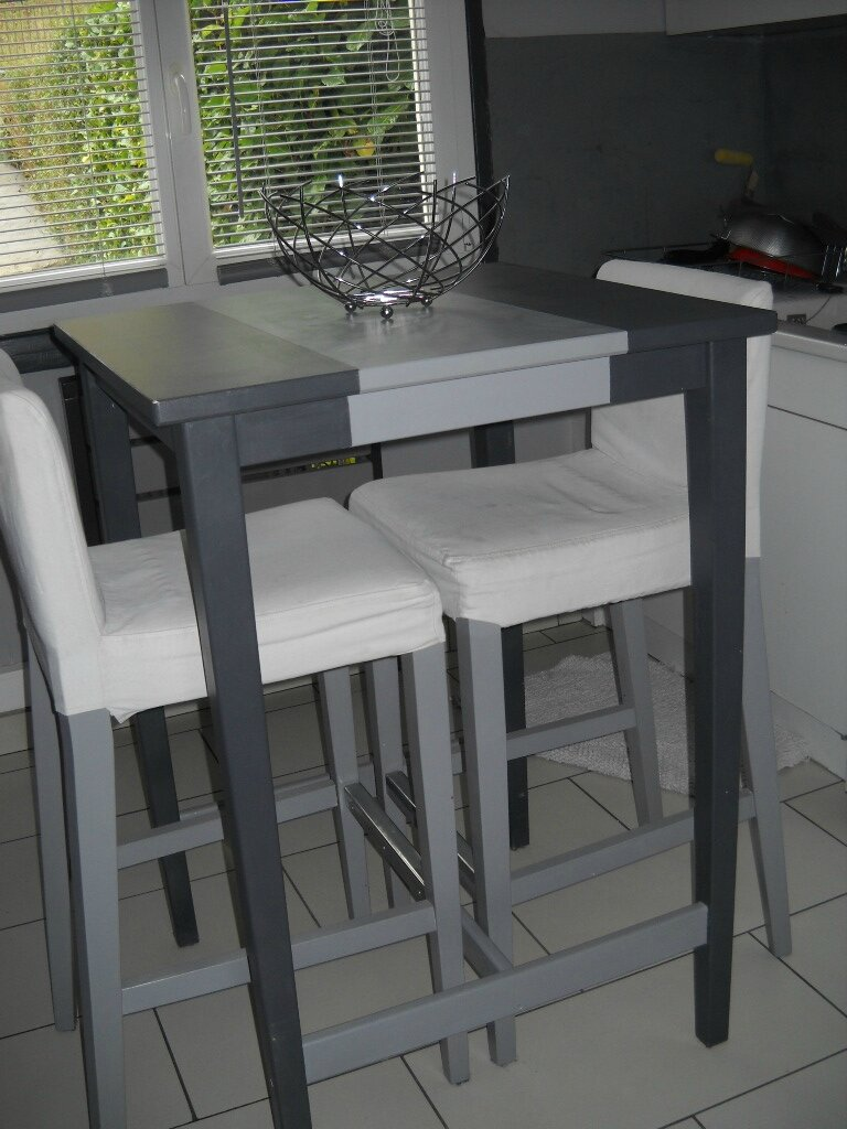 Table rabattable cuisine paris ikea table haute - Table cuisine grise ...