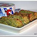 Bûchettes de riz, courgettes et fines herbes