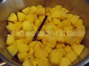 Compote pomme banane vanille 02