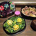 Bento boeuf aux courgettes thaïe