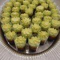 verrines pâte d'olives-concassée de tomates-mayo oeufs durs