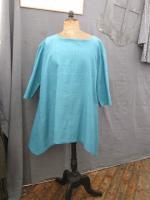 Tunique EDMEE en lin bleu lagon (5)