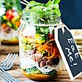 Salade jar healthy et gourmande