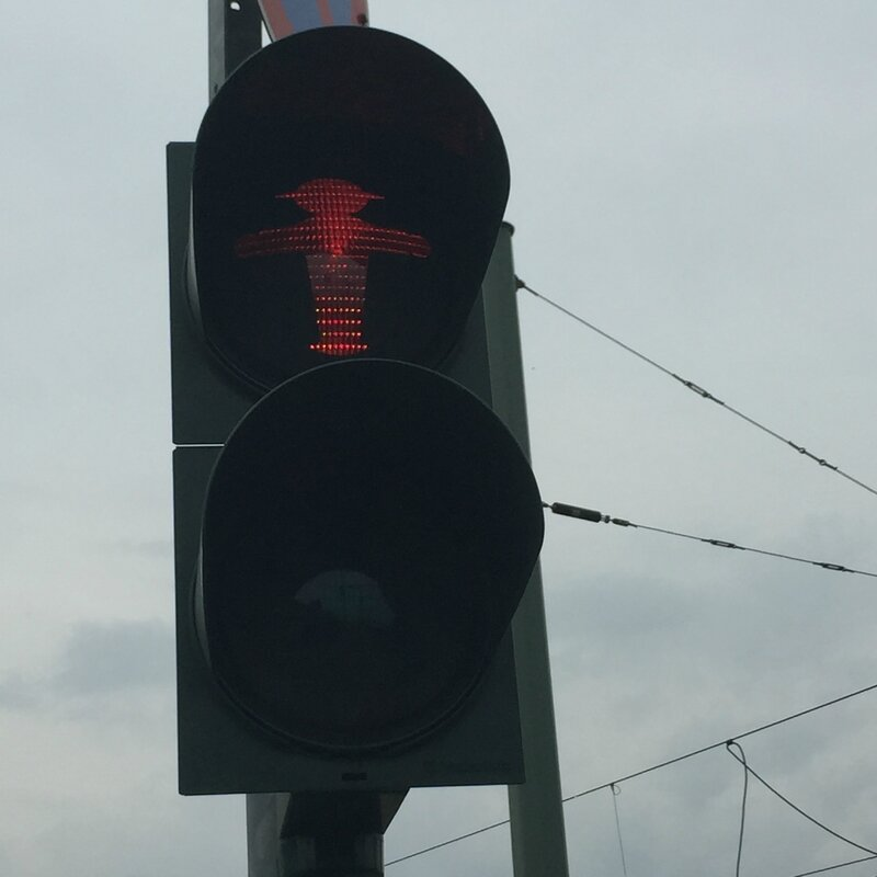 Berlin Ampelmann rouge