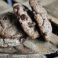 Cookies au chocolat noir et café de glands de chêne