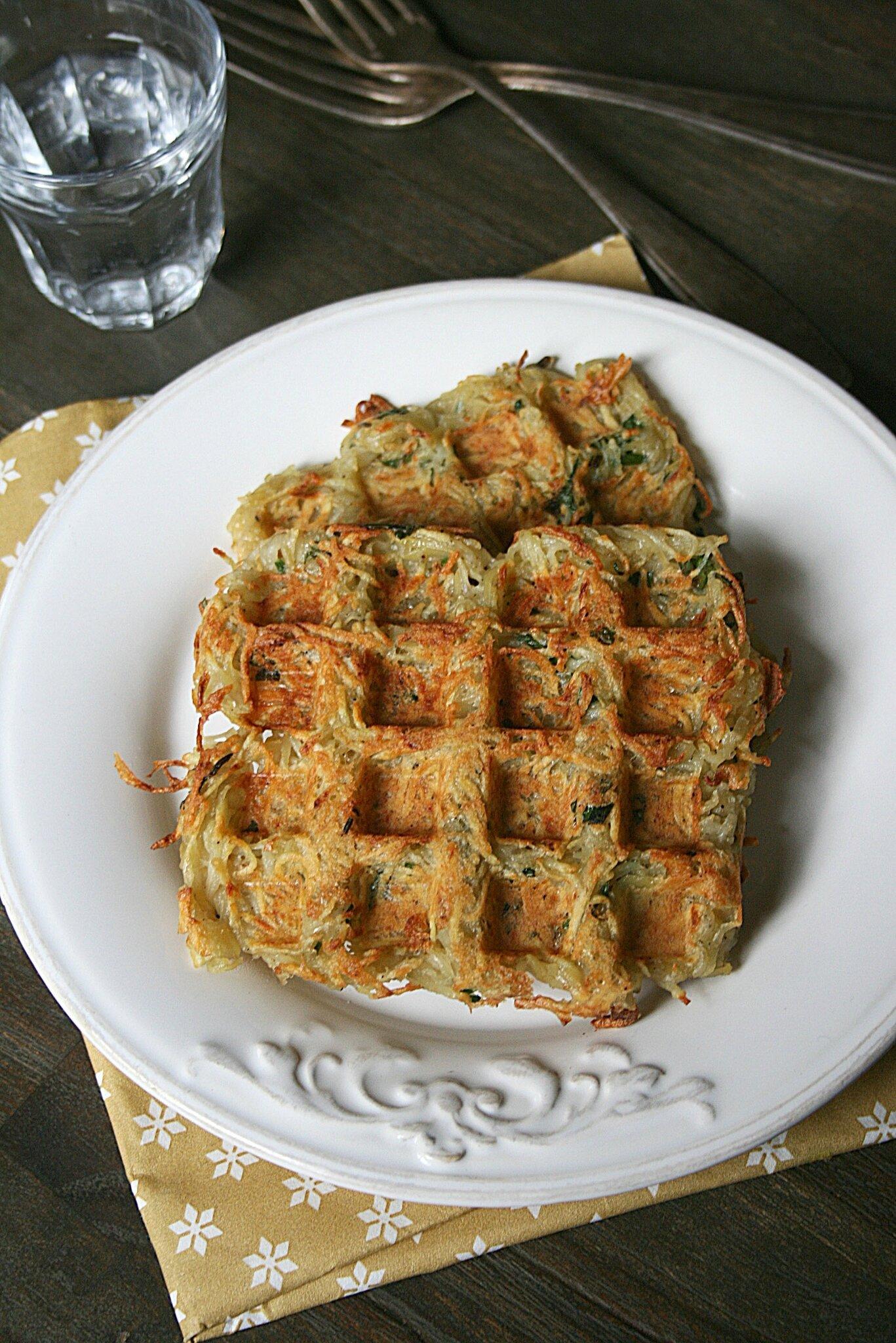 Gaufres de pommes de terre et panais