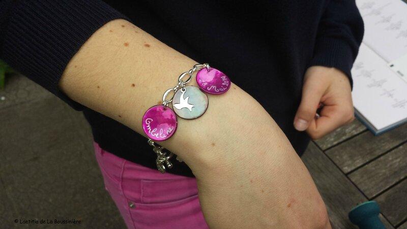 Le bracelet pour la Confirmation d'Ombeline