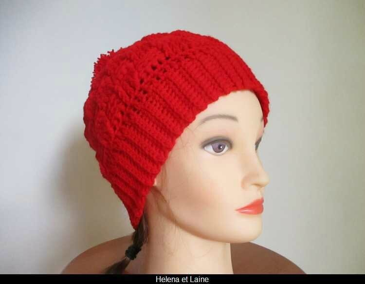 Bonnet rouge point panier et pompon1