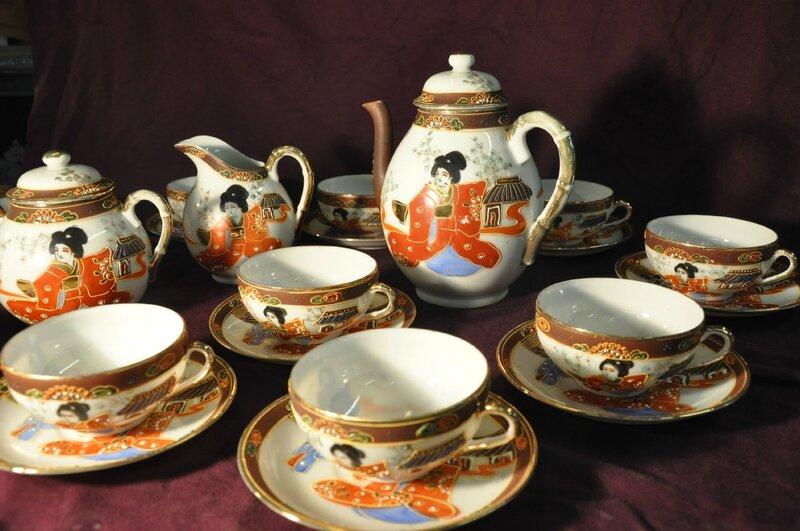 service a the en porcelaine japon antiquit s du vingti me. Black Bedroom Furniture Sets. Home Design Ideas