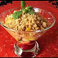 Crumble pomme-mangue (actifry)