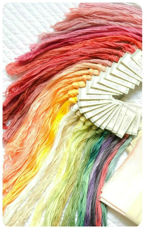 cotton threads chamaleon color art