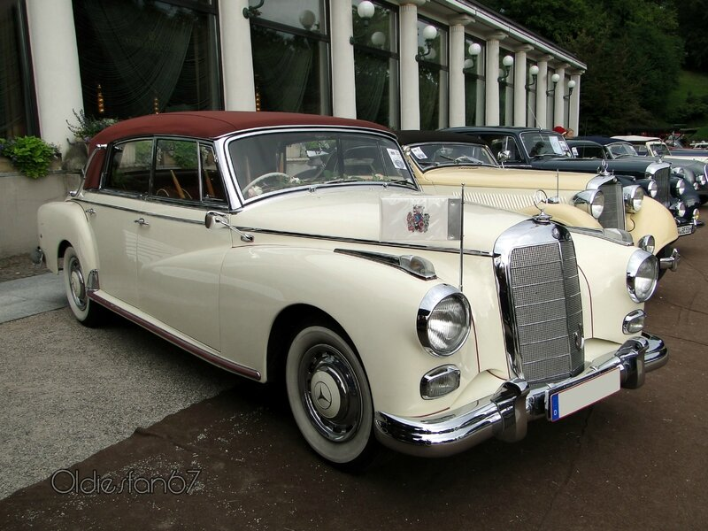 mercedes benz 300 d cabriolet 4 portes 1958 oldiesfan67 mon blog auto. Black Bedroom Furniture Sets. Home Design Ideas