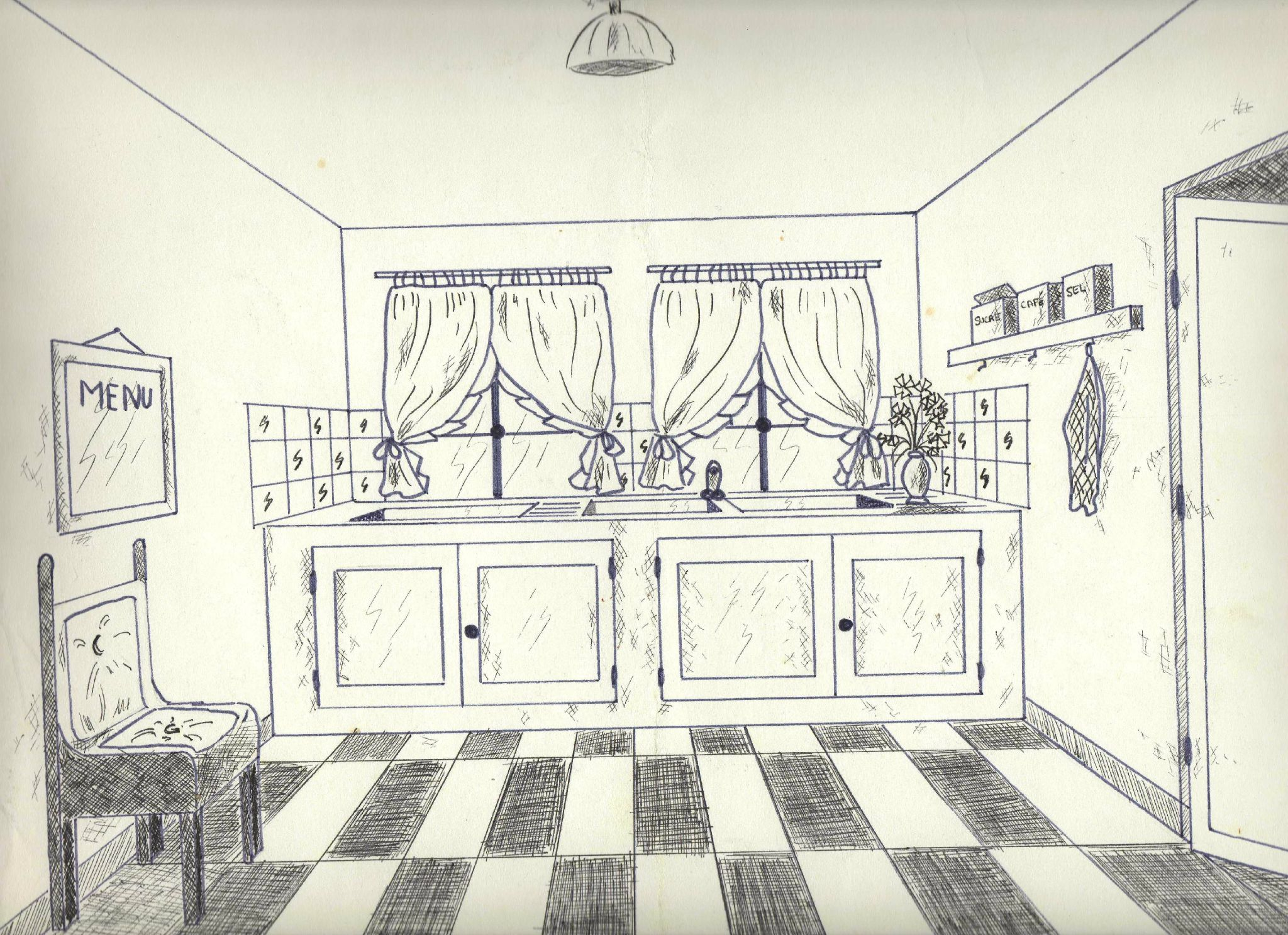 Dessin Chambre Perspective: Comment dessiner un appartement a group.