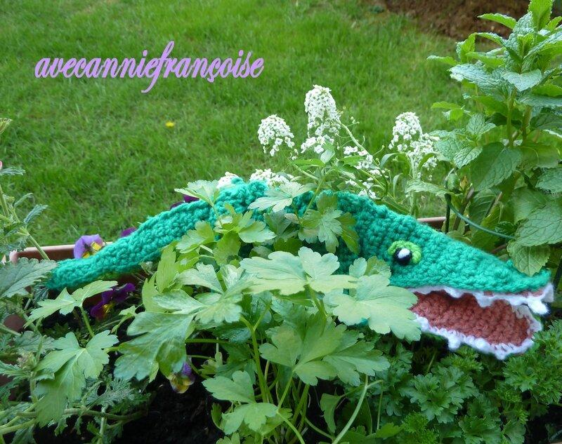 croco dans les fleurs