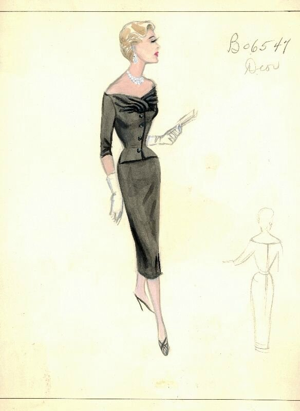 Bergdorf Goodman Archives. Coctail & Evening Dresses: Dior.