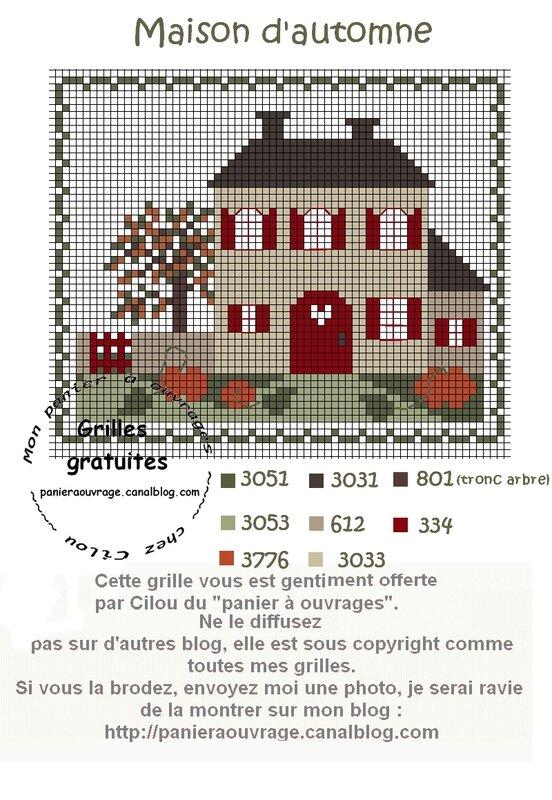 Maison d'automne rouge