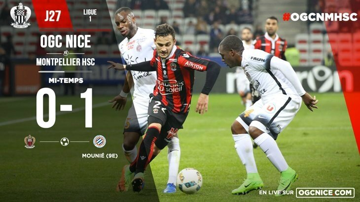 But Mounie, video Nice Montpellier, but Nice Montpellier, resume Nice Montpellier, Nice, Montpellier