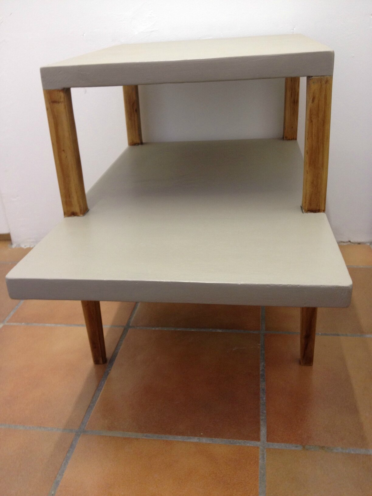 Table d 39 appoint pieds compas ann es 50 la petite factory for Epl table 98 99