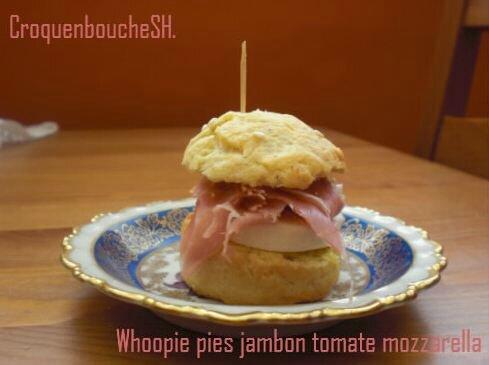 Whoopie pies jambon tomate mozzarella