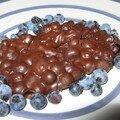 Chocolat aux bleuets