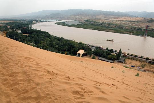 Le fleuve jaune ou huang he en chine