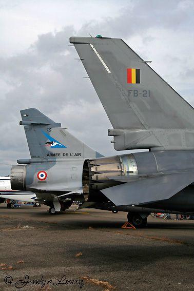 F-16 de la Force Aérienne Belge et Mirage 2000 de l'Armée de l'Air