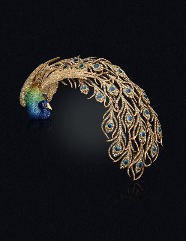 cd3d9048e An Enamel and Diamond Peacock Aigrette, by Mellerio dits Meller. Estimate  USD 500,000 - USD 700,000. Price realised USD 735,000. © Christie's Images  Ltd ...