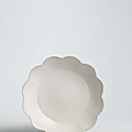 A rare ding chrysanthemum-formd washer, northern song dynasty (960-1127)