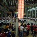 défilé militaire dans un mall pour le national day..