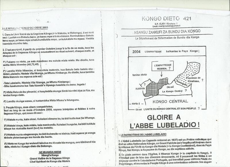 LA GLOIRE A L'ABBE LUBELADIO a