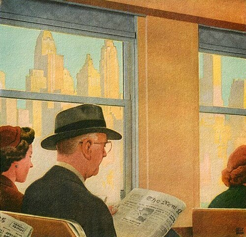 Morning Commute, art by Leslie Ragan