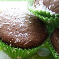Muffins coco-choco coeur façon bounty
