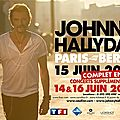 Johnny hallyday a paris bercy en juin