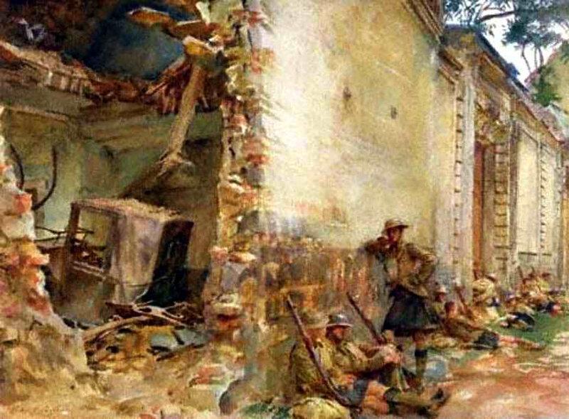 sargent cat arras en ruines