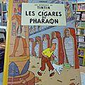 Cigares du pharaon 1955, 250€, étoile mystérieuse, 1942 2800€, crabe aux pinces d'or 1948 120€, lac de la sorcière rodier 50€