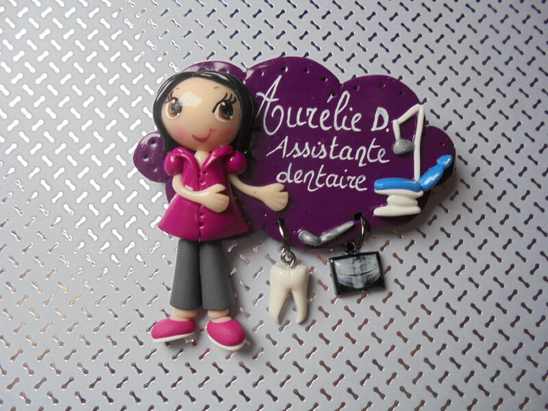 badge aurélie assistante dentaire
