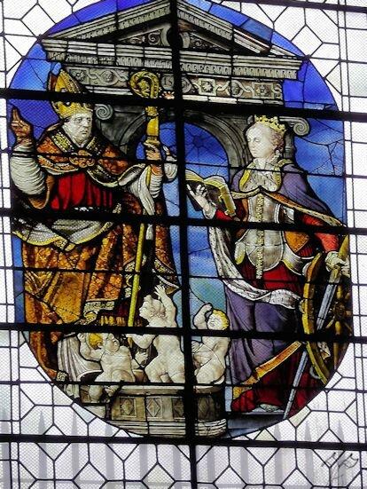 église St Gervais_détail vitrail_chapelle Ste Catherine