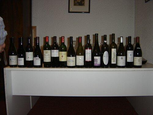La liste des vins du 15/10/2005