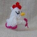 cocotte poulette au crochet 1