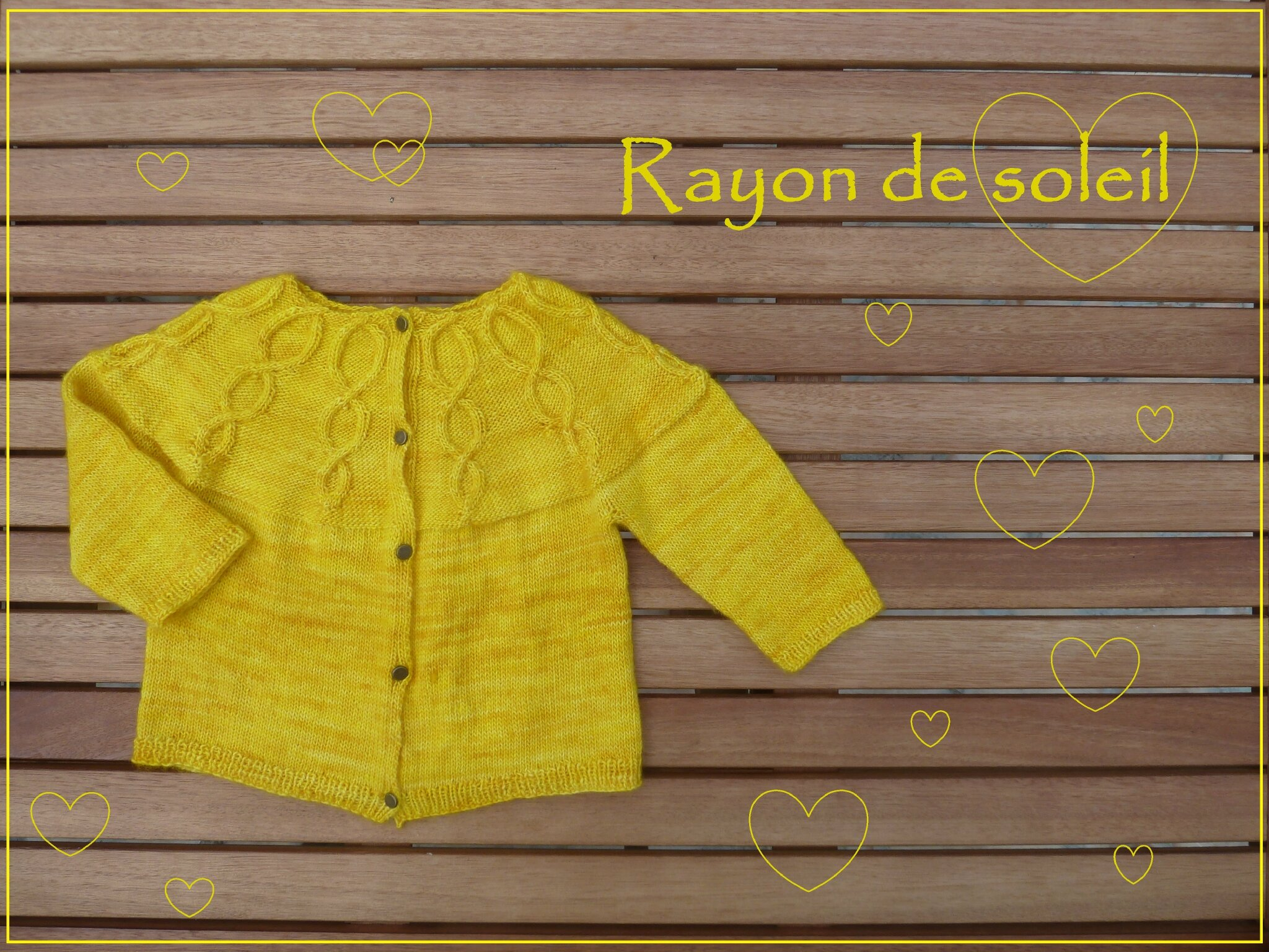 All you knit is Love #6 : Rayon de Soleil