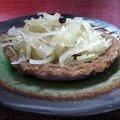 Tarte au chou en pâte de châtaigne