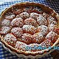 Tarte pâtissière aux abricots et aux amandes