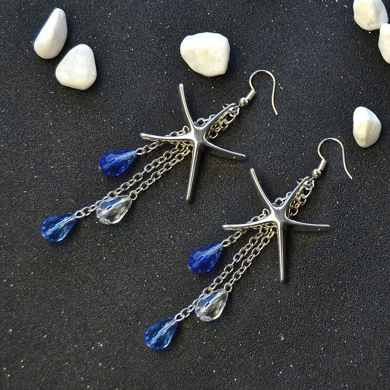pandahall-diy-craft-on-brass-starfish-pendants-earrings-with-drop-glass-beads-dangles03