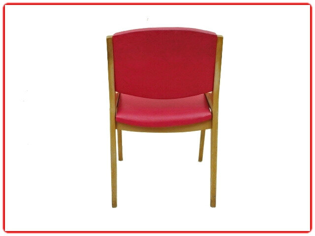 chaise vintage d'occasion skaï rouge SAM 1950