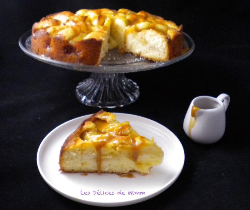 Gâteau aux pommes et son caramel à la pomme 4