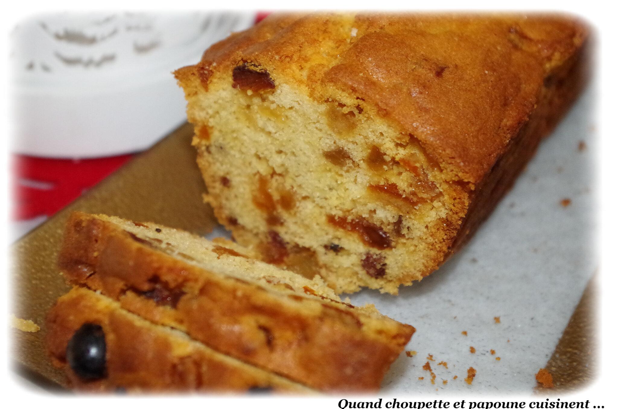 CAKE AUX FRUITS CONFITS DE NOËL