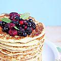 Pancakes moelleux avec un bon petit goût de frangipane {recette facile}