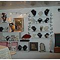 Photos du showroom perlaminette, bijoux et accessoires pour mariage