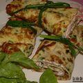 Rouleaux d'omelette à la ciboueltte